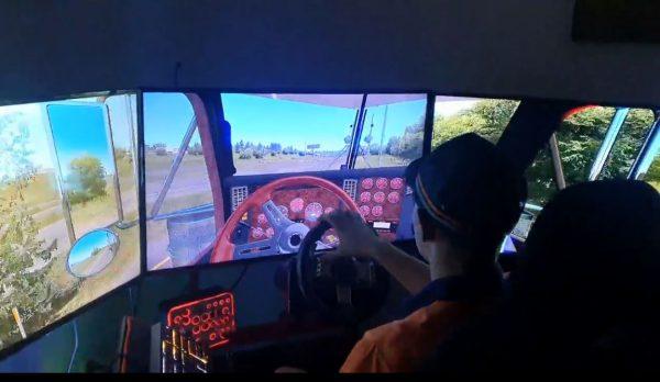 Truck Driver Training Rig - Triple Screen